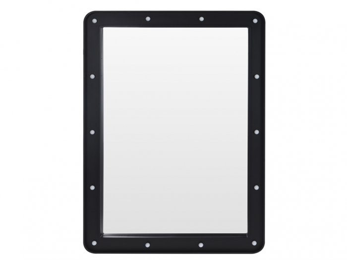 Oglinda 14 leduri rama plastic neagra 70x50x3.5cm 1