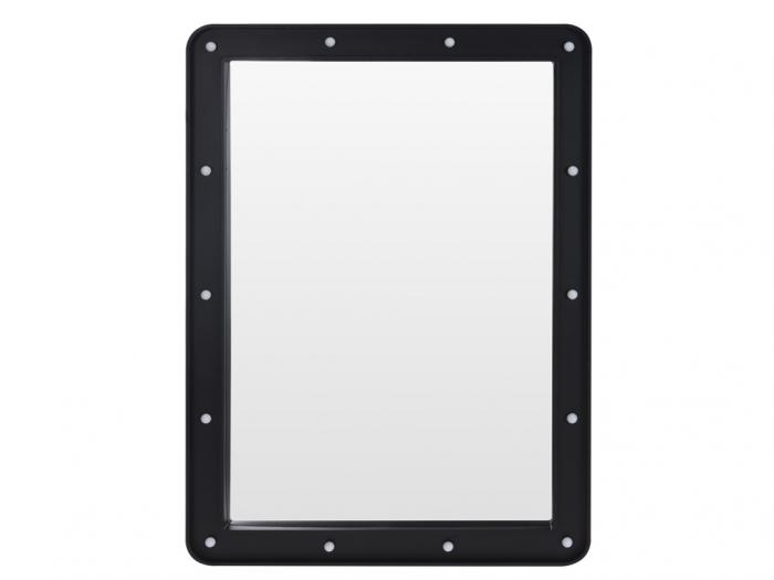 Oglinda 14 leduri rama plastic neagra 70x50x3.5cm 2