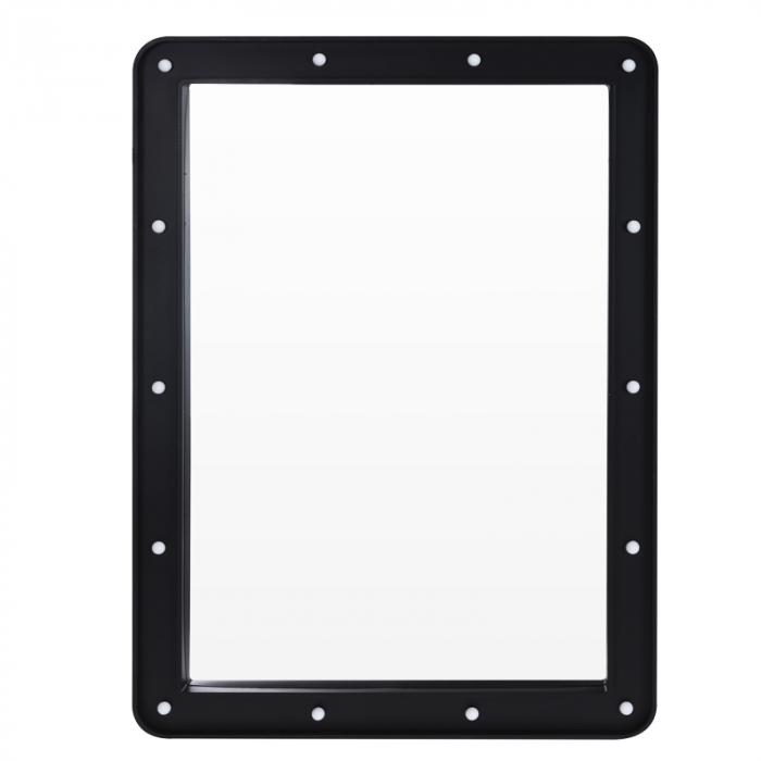 Oglinda 14 leduri rama plastic neagra 70x50x3.5cm 0