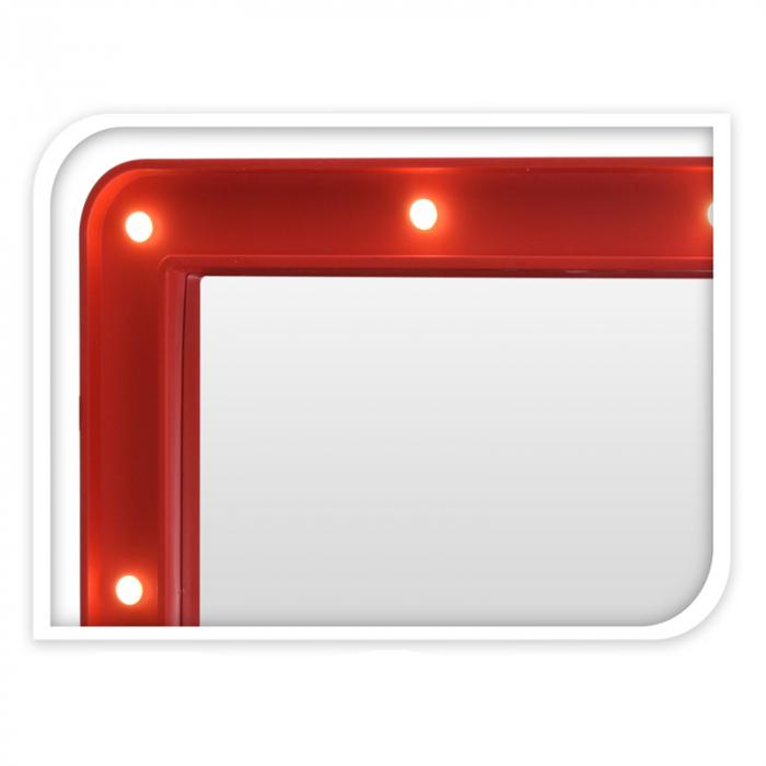 Oglinda cosmetica cu 14 leduri, rama de plastic Rosie, 70x50x3.5cm 3