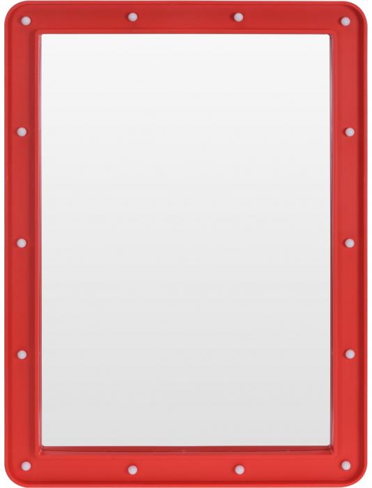 Oglinda cosmetica cu 14 leduri, rama de plastic Rosie, 70x50x3.5cm 0