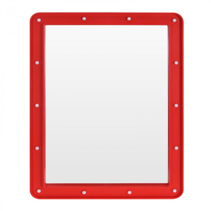 Oglinda cosmetica cu 14 leduri, rama de plastic Rosie, 70x50x3.5cm 2