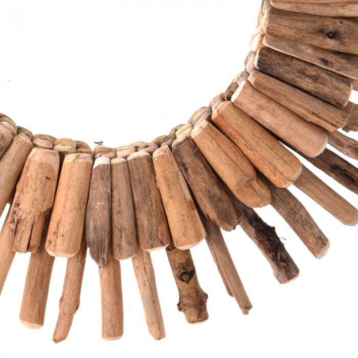 Oglinda 60 cm, rama din lemn Driftwood, maro, greutate 1.85 kg 5
