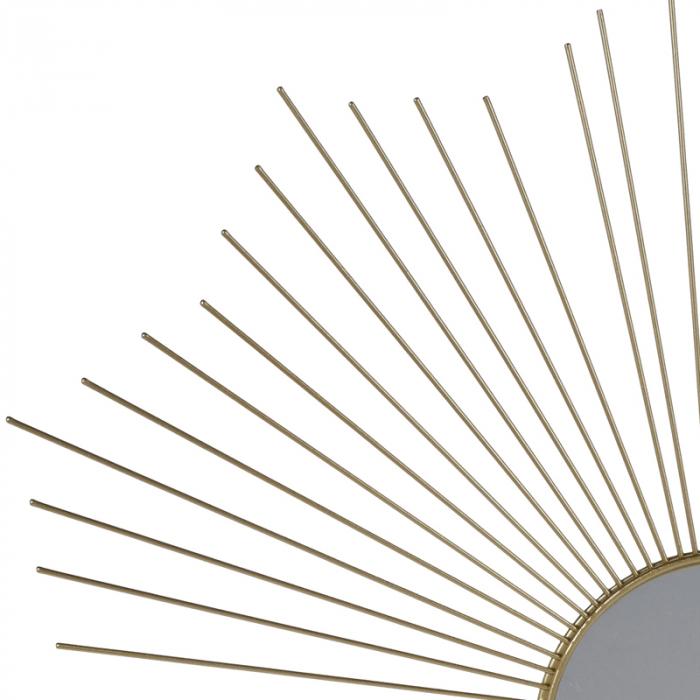 Oglinda decorativa din metal, culoarea Auriu, Diam 64 cm 1