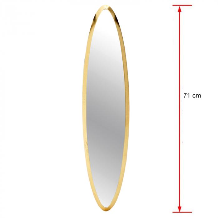 Oglinda rama Lemn, culoare Aurie, 18x71 cm [1]