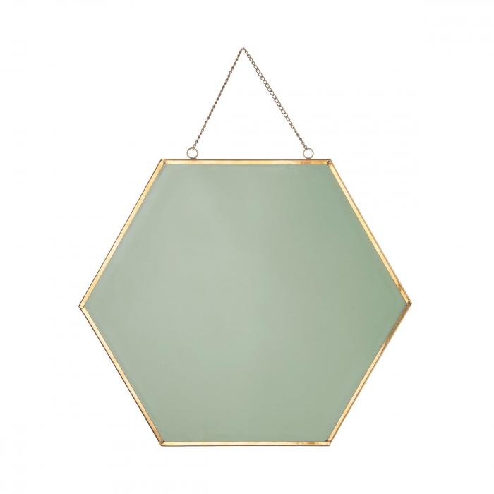 Oglinda rama metal aurie forma fagure 25 cm [5]