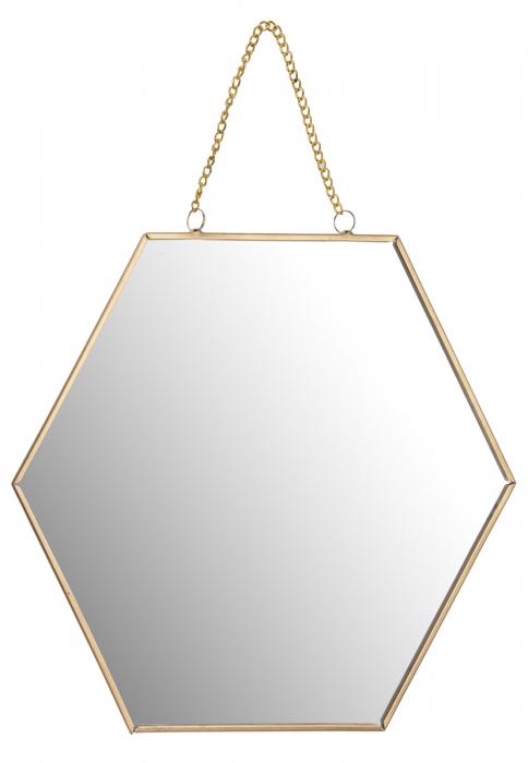 Oglinda rama metal aurie forma fagure 25 cm [0]