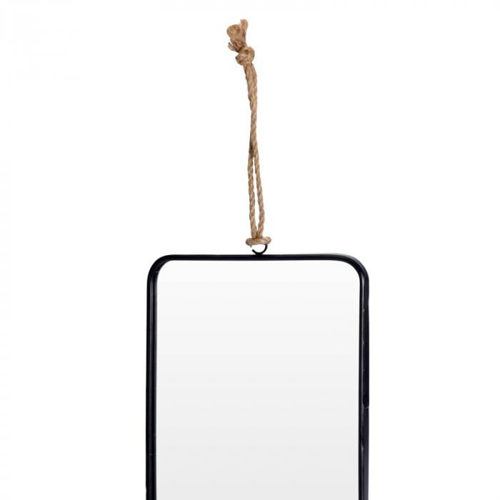Oglinda rama Neagra, rama din metal dreptunghiulara, 25.5x18.5 cm 3