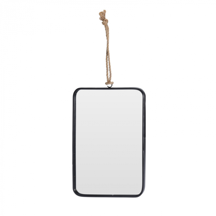 Oglinda rama Neagra, rama din metal dreptunghiulara, 25.5x18.5 cm 1