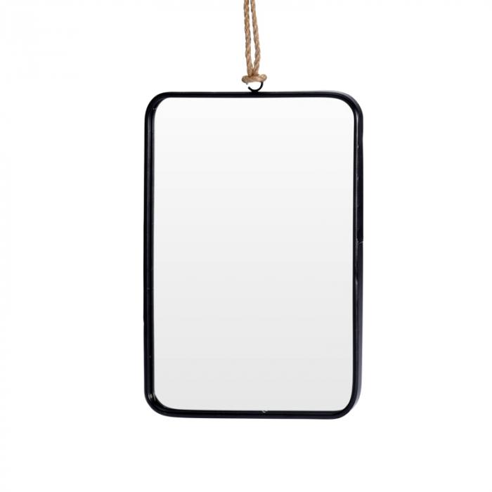 Oglinda rama Neagra, rama din metal dreptunghiulara, 25.5x18.5 cm 4