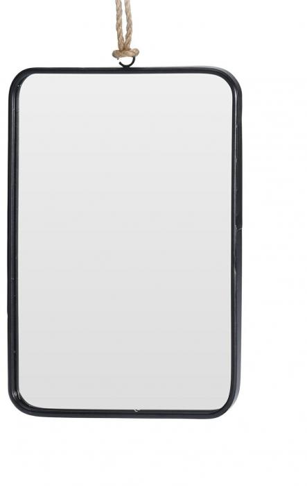 Oglinda rama Neagra, rama din metal dreptunghiulara, 25.5x18.5 cm 0