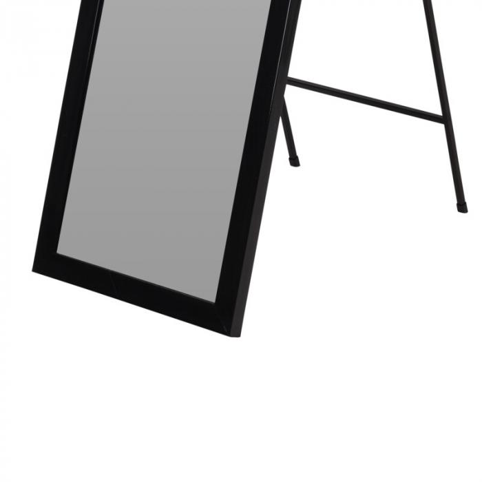 Oglinda rama plastic 36x126 cm culoare neagra cu picior metal 3