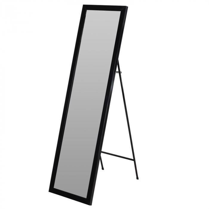 Oglinda rama plastic 36x126 cm culoare neagra cu picior metal 4