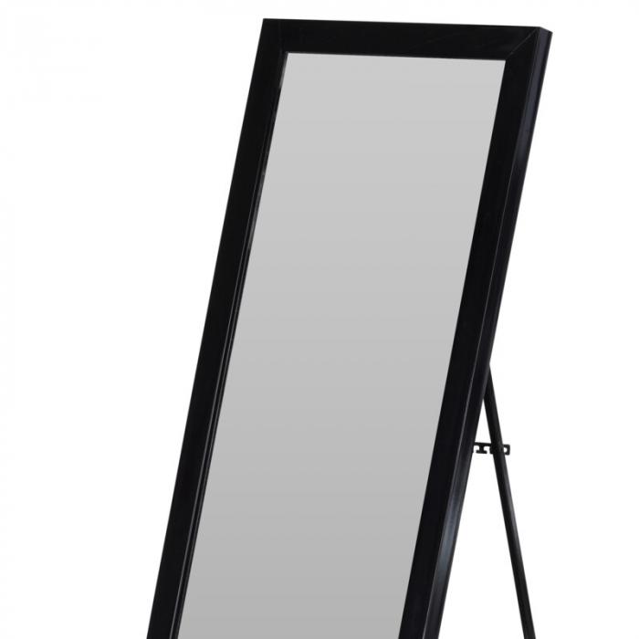 Oglinda rama plastic 36x126 cm culoare neagra cu picior metal 1