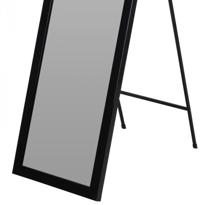 Oglinda rama plastic 36x126 cm culoare neagra cu picior metal 2
