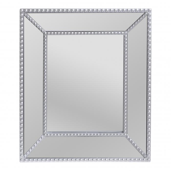 Oglinda rama plastic culoare argintie 32Χ5Χ37 0