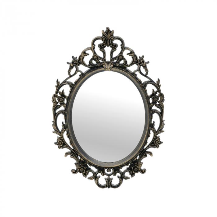 Oglinda rama plastic, culoare Auriu Antichizat, 38x54 cm 1
