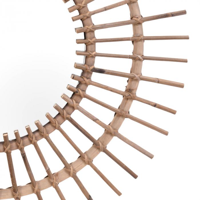 Oglinda rama ratan kubu, Diametru 90 cm, Maro, G 2.5 kg 4