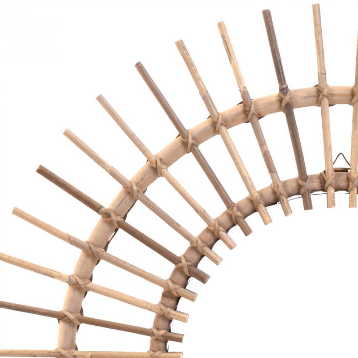 Oglinda rama ratan kubu, Diametru 90 cm, Maro, G 2.5 kg 2