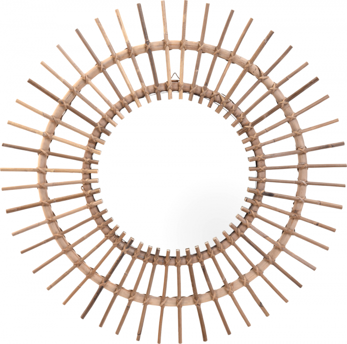 Oglinda rama ratan kubu, Diametru 90 cm, Maro, G 2.5 kg 0