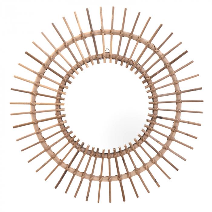 Oglinda rama ratan kubu, Diametru 90 cm, Maro, G 2.5 kg 1
