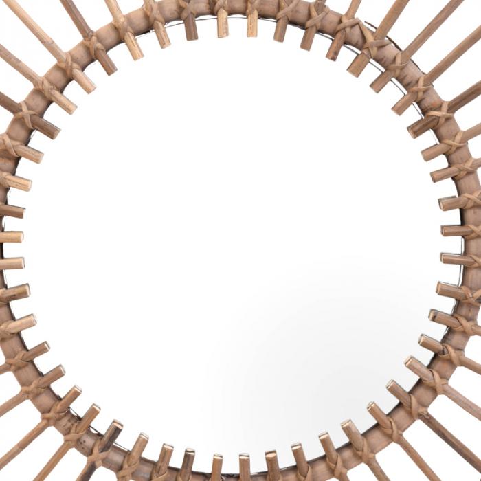 Oglinda rama ratan kubu, Diametru 90 cm, Maro, G 2.5 kg 6