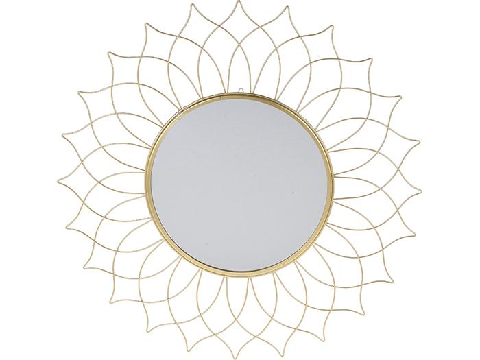 Oglinda rama metal aurie forma floare diametru 50 cm [1]