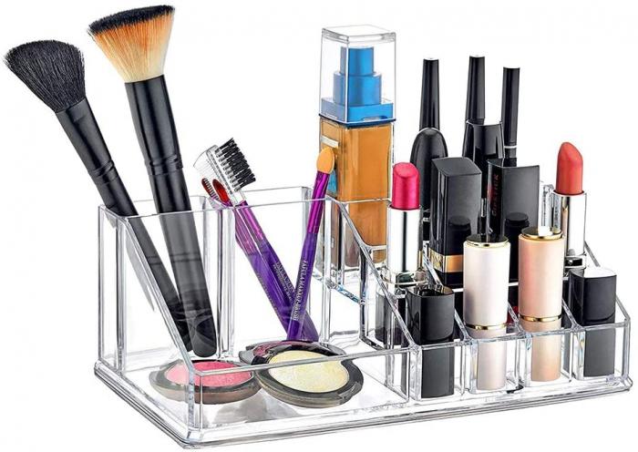 Organizator de Cosmetice, NAGO®, 16 compartimente, Plexiglas, 22 x 13 x 8 cm, Transparent 3