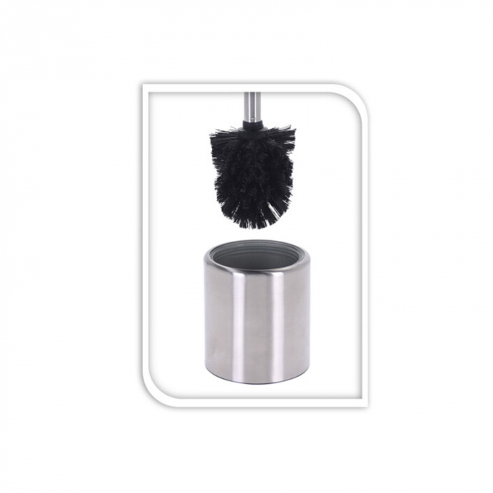 Perie WC cu suport inox 35x10 cm, culoare argintie 1