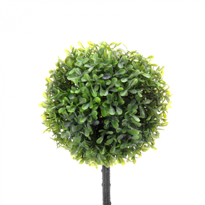 Planta artificiala buxus in ghiveci alb ,H 40 cm Diam 16 cm 1