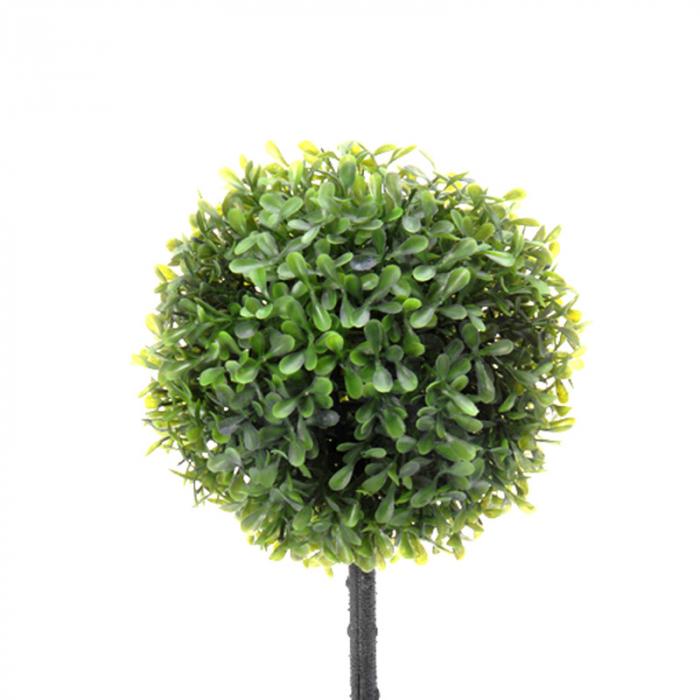 Planta artificiala buxus in ghiveci gri  H 40 cm Diam 16 cm 1