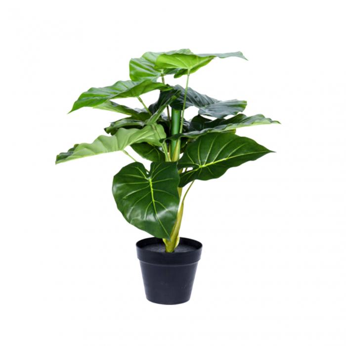 Planta artificiala in ghiveci, Alocasia, inaltime 60 cm [0]