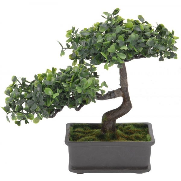 Bonsai artificial, Verde deschis si inchis, dimensiunea de 23cm [0]