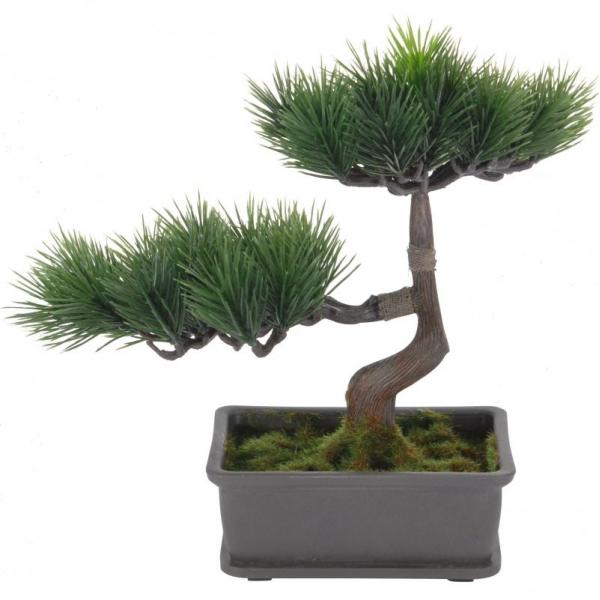 Bonsai artificial 23cm verde inchis tip pin 0