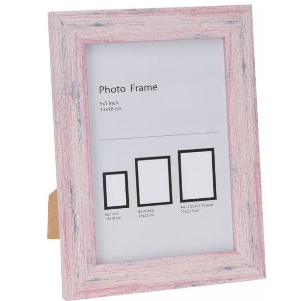 Rama foto lemn 16.5x21.5cm roz 0