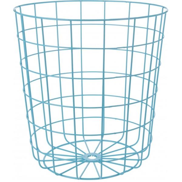 Cos depozitare metallic, 32 x 34,5 cm, albastru 0