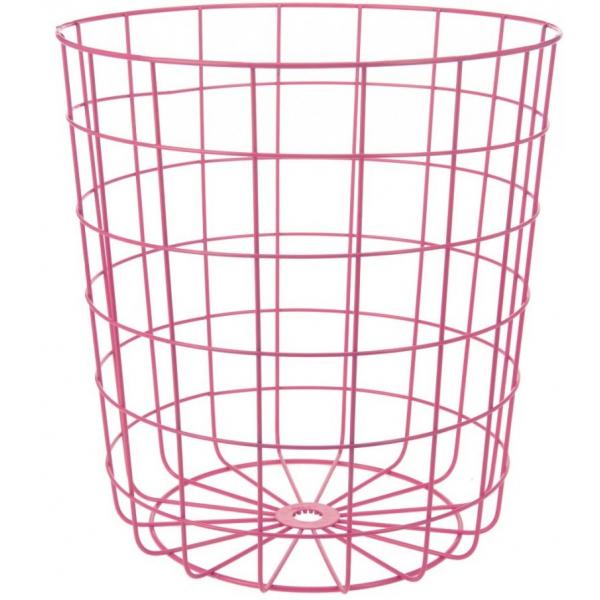 Cos depozitare metallic, 32 x 34,5 cm, roz 0