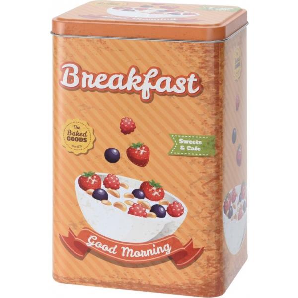 Cutie metalica depozitare Breakfast 12.8x9.9x19.9cm 0