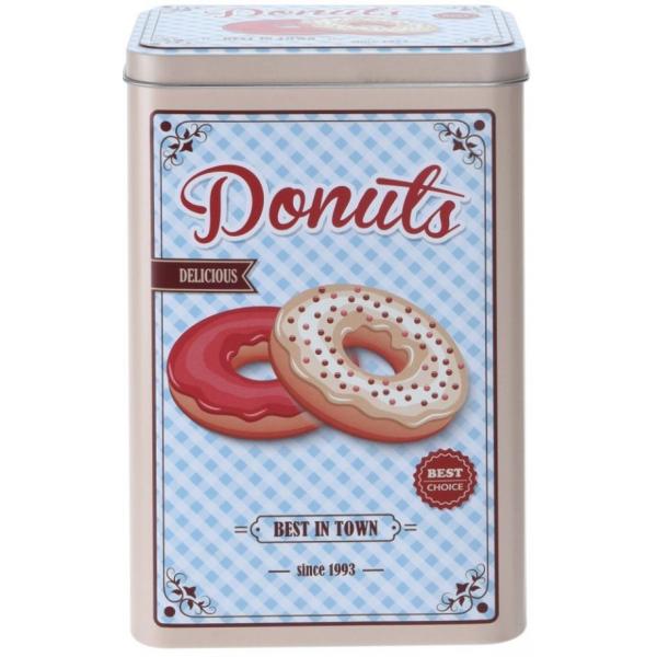 Cutie metalica depozitare Donuts 12.8x9.9x19.9cm 0