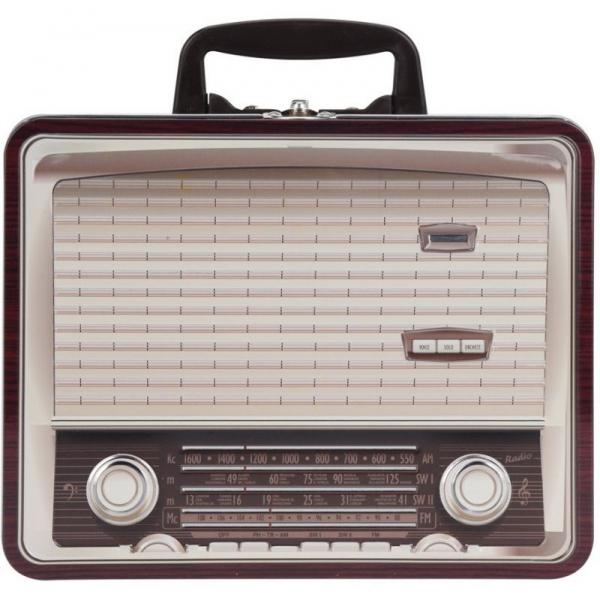 Cutie metalica depozitare forma radio vintage 0