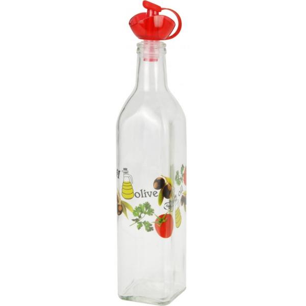 Recipient pentru ulei sau otet 500 ml capac rosu 0