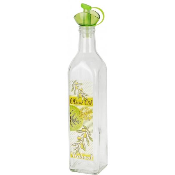 Recipient pentru ulei sau otet 500 ml capac verde 0