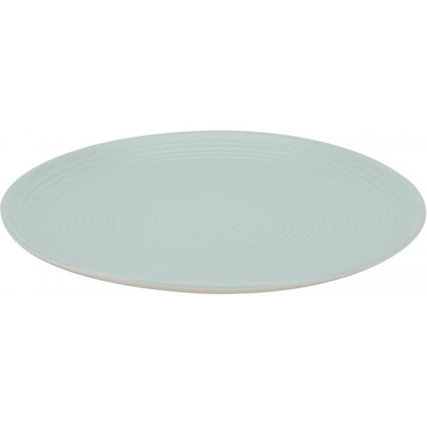 Farfurie ceramica 26cm aspect mat bleu 0