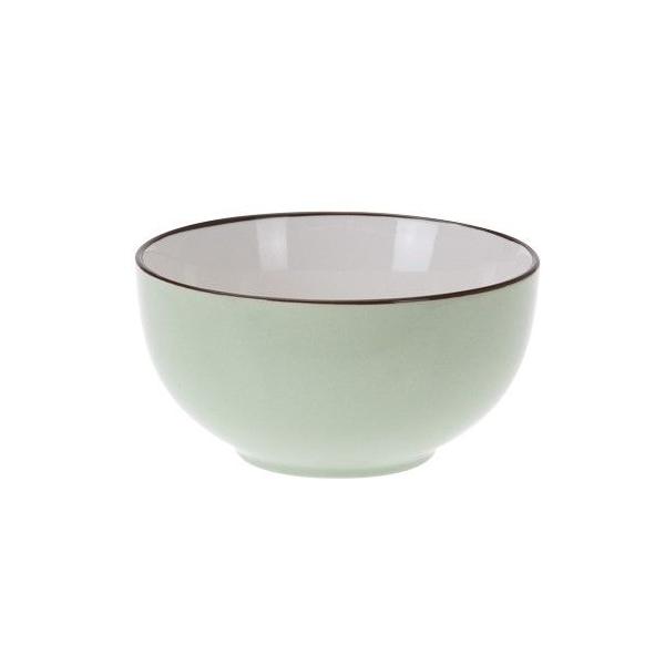 Bol de portelan, culoare verde, 7 cm 1