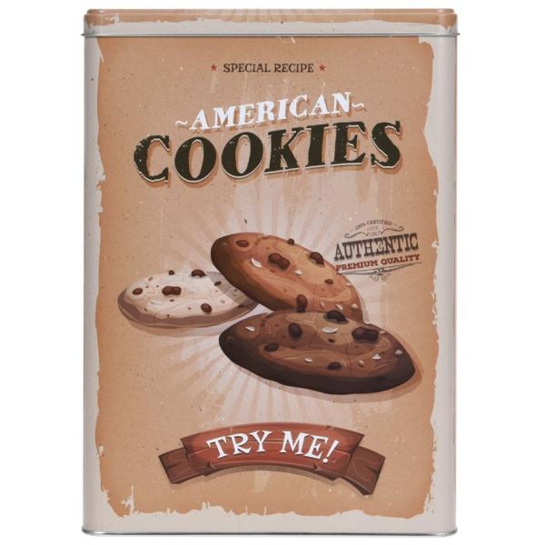 Cutie metalica depozitare American Cookies 0