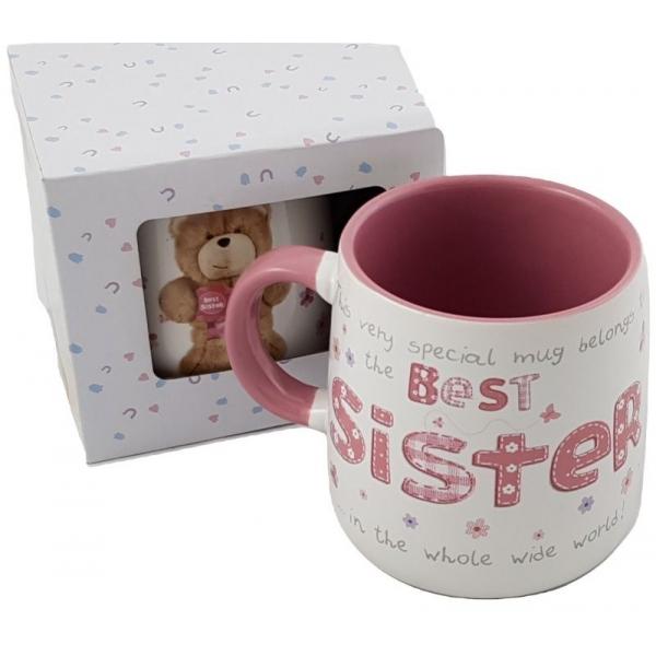 Cana ceramica model ursulet cu mesaje sister 0