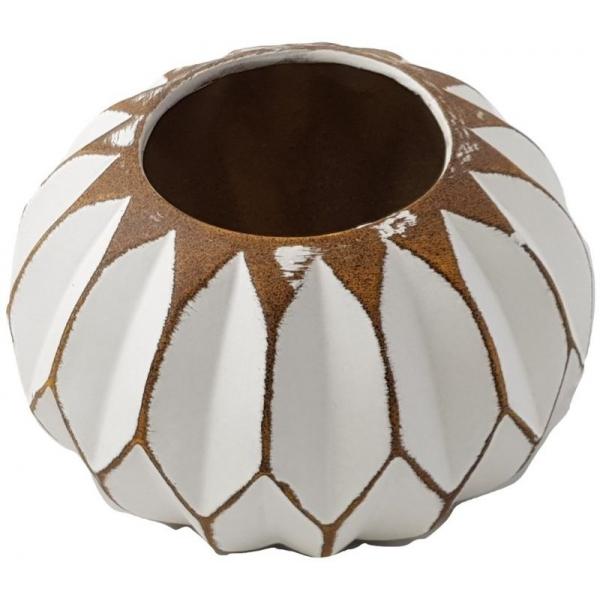 Vaza ceramica sferica alba 0