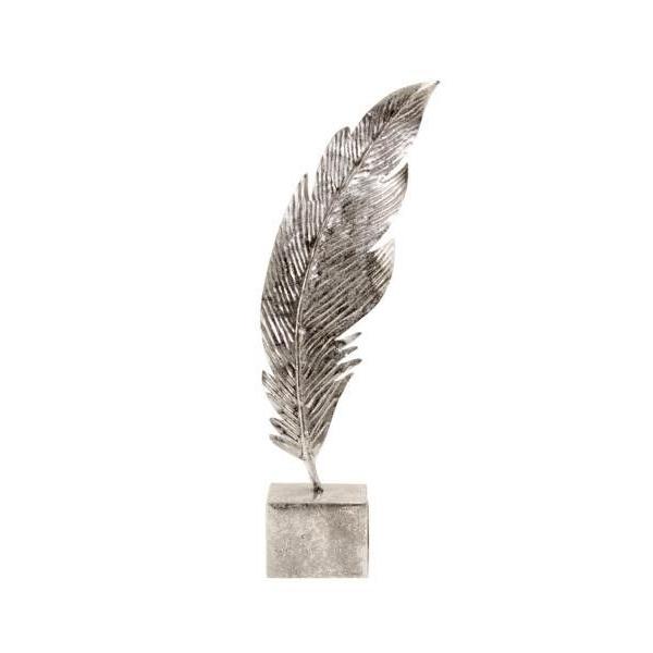 Decoratiune Pana Argintie, 41 cm 0