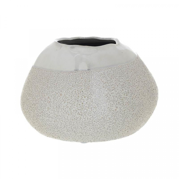 Vaza ceramica 12.5 cm culoarea fildes 0