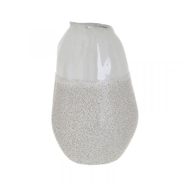Vaza ceramica 25 cm culoarea fildes 0
